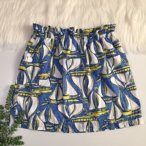Lilly Pulitzer Sailboat Skirt | Size Medium